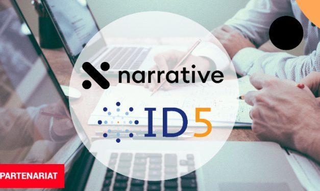 Narrative & ID5 s'allient pour améliorer le ROI de leurs utilisateurs
